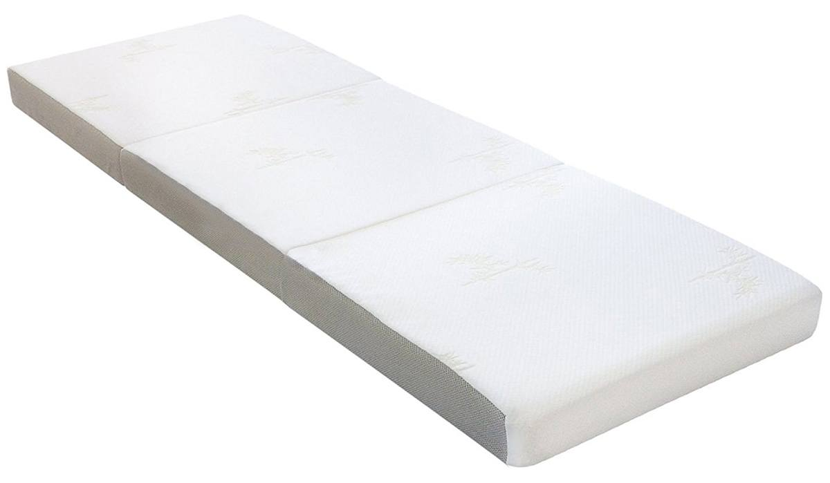the milliard trifolding is an affordable 4inch twin size mattress that can be folded up into three pieces which is great for smaller spaced areas